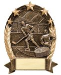 5 Star Oval -Hockey 5 Star Oval Resin Trophy Awards