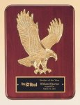 Rosewood Piano Finish Plaque with Gold Eagle Casting Achievement Awards