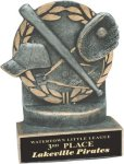 Baseball - Wreath Resin Trophy Baseball Trophy Awards