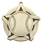 Baseball Super Star Medal   Baseball Trophy Awards