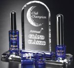 Guthrie Goal-Setter Blue Optical Crystal Awards