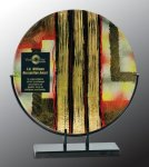 Round Art Glass Award Boss Gift Awards