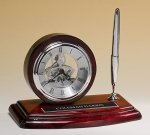 Piano-Finish Clock and Pen Set Boss Gift Awards