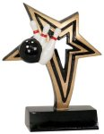 Bowling Infinity Star Resin Bowling Trophy Awards