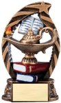 Bronze and Gold Award -Lamp of Knowledge  Bronze and Gold Star Resin Trophy Awards