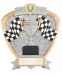 Signature Series Racing Flags Shield Award Car/Automobile Trophy Awards