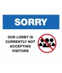 Closed Lobby Plastic Sign COVID-19 Safety Signage
