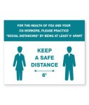 Keep A Safe Distance Plastic Sign COVID-19 Safety Signage