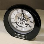 Silver Accents Desk Clocks