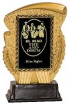 Gold & Black Rectangle Insert Holder Resin Award Economy Acrylic Awards