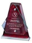 Arrowhead Glass Mounted with Rosewood Back Employee Awards