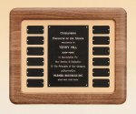 American Walnut Frame Perpetual Plaque Employee Awards