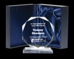Corporate Crystal Octagon Executive Crystal Awards
