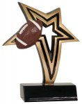 Football Infinity Star Resin Football Trophy Awards