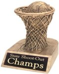 Basketball - Gold Resin Trophy Gold Resin Trophy Awards
