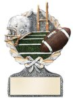 Football Multi Color Sport Resin Figure Multi Color Sport Resin Trophy Awards