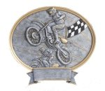 Legend Motocross Oval Award Oval Resin Trophy Awards