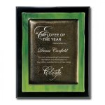 Green Metallic Fusion Piano Finish Plaques