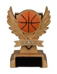 Basketball Victory Wing Resin Figure Scholastic Trophy Awards
