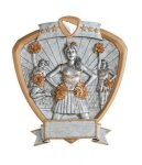 Signature Series Cheerleader Shield Award Signature Shield Resin Trophy Awards