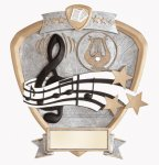 Signature Series Music Shield Award Signature Shield Resin Trophy Awards