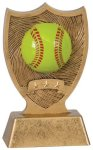 Plastic Sport Shield Softball Award Softball Trophy Awards