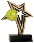 Softball Infinity Star Resin Softball Trophy Awards