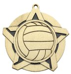Volleyball Super Star Medal  Gold Super Star Medal Awards