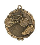 Wreath Triathlon Medal Swimming Trophy Awards