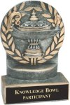 Lamp of Knowledge - Wreath Resin Trophy Wreath Resin Trophy Awards